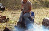 Cómo hacer una parrilla de fuego de campamento - coste cero