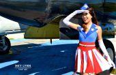 Cosa de traje No de bricolaje Capitán América USO chica!