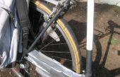 Neumático de bicicleta reciclado como defensa