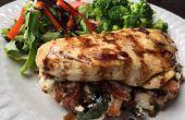 Pechugas de pollo rellenas de queso Ricotta y panceta ahumada