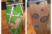 Renovación de longboard DIY (cinta de agarre y gráficos)
