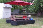 Mesa de picnic de barco pontón
