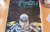 Acrílico pintado Tron legado Poster