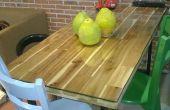 La mesa de comedor de estilo Industrial caseros