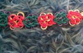 Flores arco iris telar pulsera de mariposa
