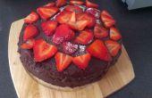 Pastel de fresa y chocolate