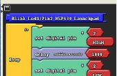 Bloque de programación con MSP430 Launchpad