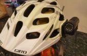 Cámara casco montar usando masilla de Epoxy de la bici