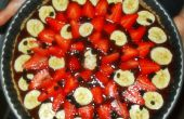 Tarta de frutas crudas (con relleno de cacao)