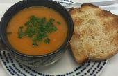 Sopa de lentejas y vegetales (vegana)