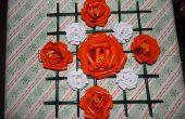 Rosas con marco de papel