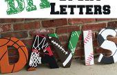 Letras de madera con temas del deporte