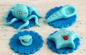 Cómo hacer mar mundo Cupcake Toppers