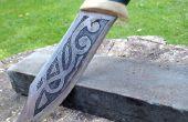 Cuchillo hecho a mano y grabado