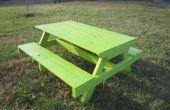Mesa de Picnic infantil plataforma