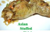 Asiático relleno de pollo