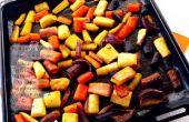 Rey glaseado zanahorias asadas (GF)