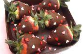 ¿DIY comestible Chocolate caja con Chocolate sumergió fresas rellenas