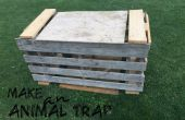 Trampa para animales madera