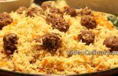 Albóndigas y Arroz Pilaf - receta de comida de una olla