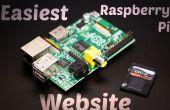 Sitio web más fácil de frambuesa Pi