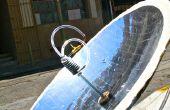 Construcción de un calentador de agua caliente Solar parabólica usando 123D
