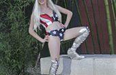 Lady Gaga traje de bandera americana