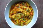 Curry de patatas y coliflor