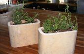 Reciclar potes de flor teja chimenea