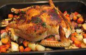 Turquía de naranja-jengibre-Miso con verduras asadas