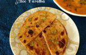 Aloo Paratha (pan plano de trigo entero con relleno de papa)