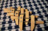 Las abrazaderas de madera