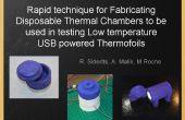 Técnica rápida para la fabricación de cámaras térmica disponible ser utilizado en la prueba de baja temperatura USB powered Thermofoils y elementos de calefacción