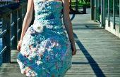 Vestido reciclado de reutilizar