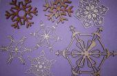 Decoraciones de Navidad copos de nieve con el cortador del laser!