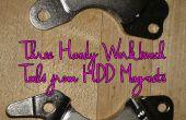 Tres herramientas Banco de trabajo práctico de los imanes de disco duro