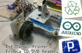 Impresora matricial de un lector de CD/DVD con Arduino