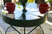 Reutilizar ruedas viejas en una mesa de giro impresionante!