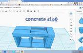 123D fregadero de concreto