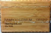 Agregar un monitor de batería a batería de litio de bambú
