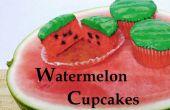 Cupcakes de sandía: Hecho con sandía Real