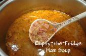 Sopa de jamón de vacía la nevera