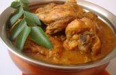 Sencillo pollo al Curry de la India