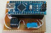 Arduino Nano como programador Attiny 85 y 5 LED POV