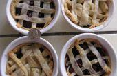Lindos Mini tortas: Manzana y cereza