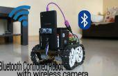 Robot controlado por Bluetooth con la cámara inalámbrica espía
