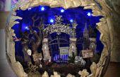 Espeluznante cementerio Diorama calabaza