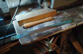Escoplo de torneado de madera de una hoja de sierra alimentación + opcional para trazar metal de vieja escuela.