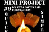 Mini proyecto #9: DIY cera y algodón fuego entrantes