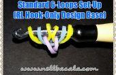 Estándar 6 loop Set Up para gancho solo arco iris telar pulseras